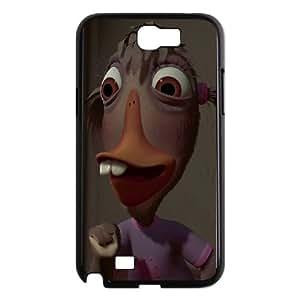Samsung Galaxy N2 7100 Cell Phone Case Covers Black Chicken Little Character Abby Mallard MUS9146899