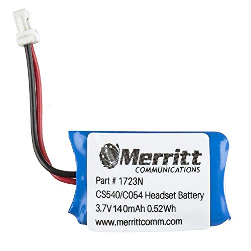 Replacement Plantronics Headset Battery For CS540 and C054 Wireless Headsets by Merritt (Image #1)