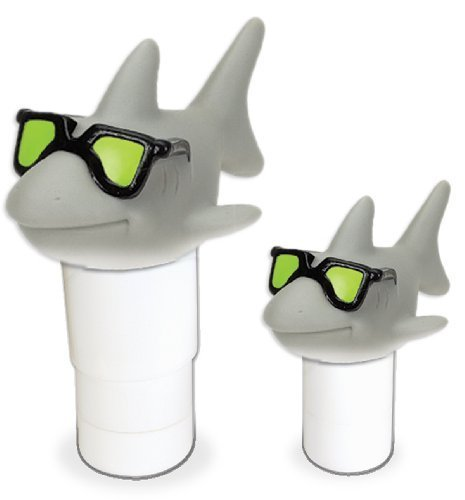 (Hydro Tools 87271 Large Capacity Floating Cool Shark Pool Chemical Dispenser (2-Pack) )