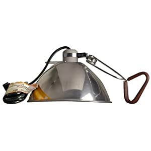 "Coleman Cable 05961 10-1/2"" Brooder / Heat Lamp with Clamp - 18/2 SJT and 8' Cord"