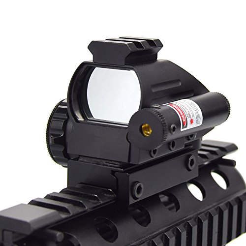 (Feyachi Reflex Sight and Red Laser Sight - 1x33 Red/Green Dot Scope Sight 4 Different Reticle for Picatinny or Weaver Rail)