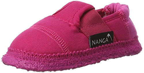 Nanga Mädchen Klette Niedrige Hausschuhe Pink (Beere)