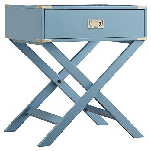Campaign Accent - Borden Campaign Accent Table - Skyline Blue - Inspire Q