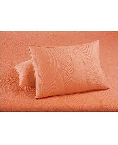 Martha Stewart Collection Atlantic Palm Resort Coral Quilted Standard Sham ()