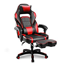 Merax Racing Office Chair Red and Black ...
