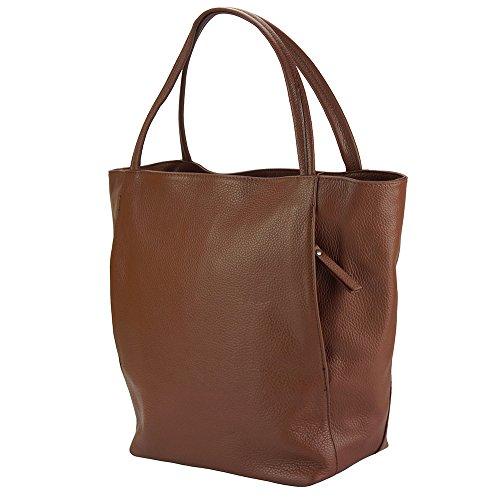 Mélie Para 9122 Alta A Hobo Calidad Market Florence De Ternera Hecha En Marròn Leather Mano Mujer Cuero wTZItt