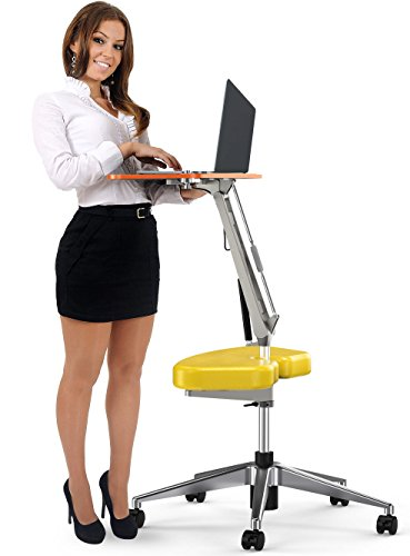 RoomyRoc Adjustable Rolling Notebook Computer Desk Writing/Bed Table (yellow) by RoomyRoc