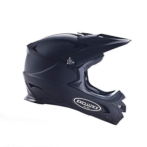 Exclusky Adult Full Face Bike Helmets (Black, L)