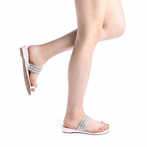 DREAM Jewel 05 Flop Women's PAIRS white Sandals Flip rOw46rpx