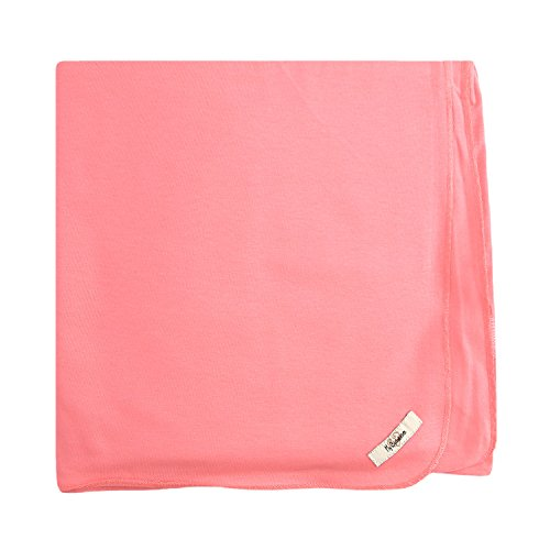 My Blankee Organic Cotton  Jersey Knit Swaddle Baby Blanket, 47'' X 47'', Coral by My Blankee