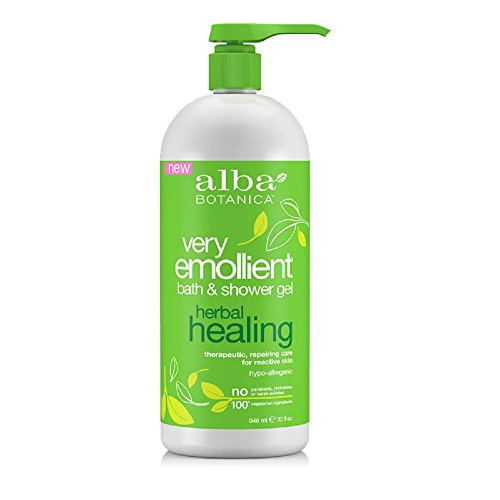 Alba Botanica Very Emollient Bath and Shower Gel, Herbal Healing, 32 Ounce