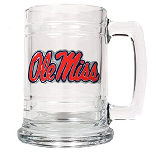 Great American Products Mississippi Ole Miss Rebels 16oz Glass Tankard ()