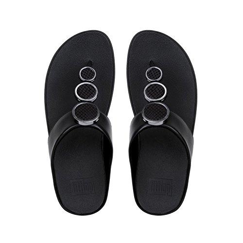 Toe black Negro Halo Para 001 Mujer Tm Chanclas Fitflop Thong Sandals EqZBBz