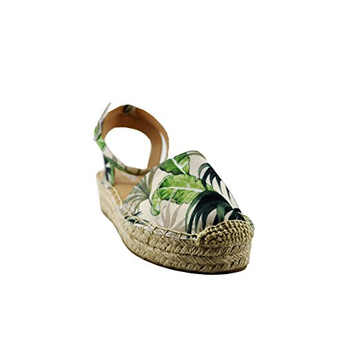Multi Flat Open Espadrilles Fiesta Green Back Soda Women's wqUR7Og