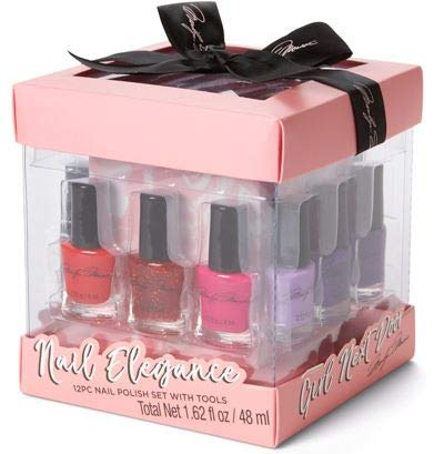 Marilyn Monroe Girl Next Door 12 Piece Nail Elegance Nail Polish Set with 6 Manicure Tools in a Gift Box by Tri-Coastal Design