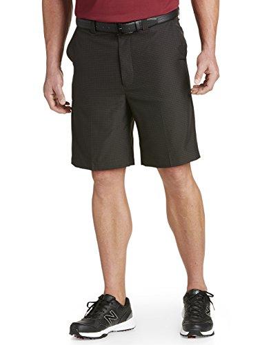 Oak Hill by DXL Big and Tall Tonal Waist-Relaxer Microfiber Shorts Microfiber Flat Front Shorts