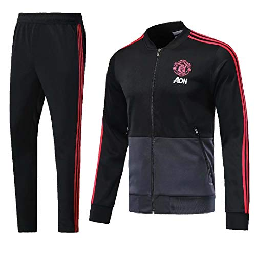 Sykdybz Club Long-Sleeved Jersey Football Uniform Suit Team Appearance Competition Training Suit, Black, M ()