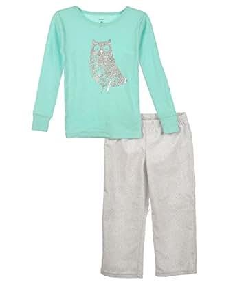 a2820521f3dd Amazon.com  Carter s Toddler Girls Up Owl Night Mint   Gray 2 Piece ...