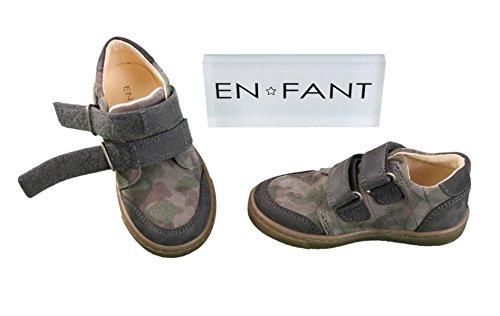 EnFant Star Shoe, Unisex, sprotliche Echtleder Halbschuhe mit Klettverschluss, 815020U Grau
