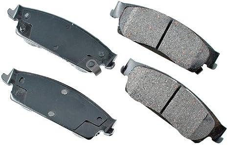 FRONT+REAR Akebono Pro-ACT Ultra-Premium Ceramic Brake Pads USA MADE AK96245