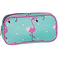 iscream Flamingos 8.5 x 4.5 Bold Print Zippered Cosmetic Bag