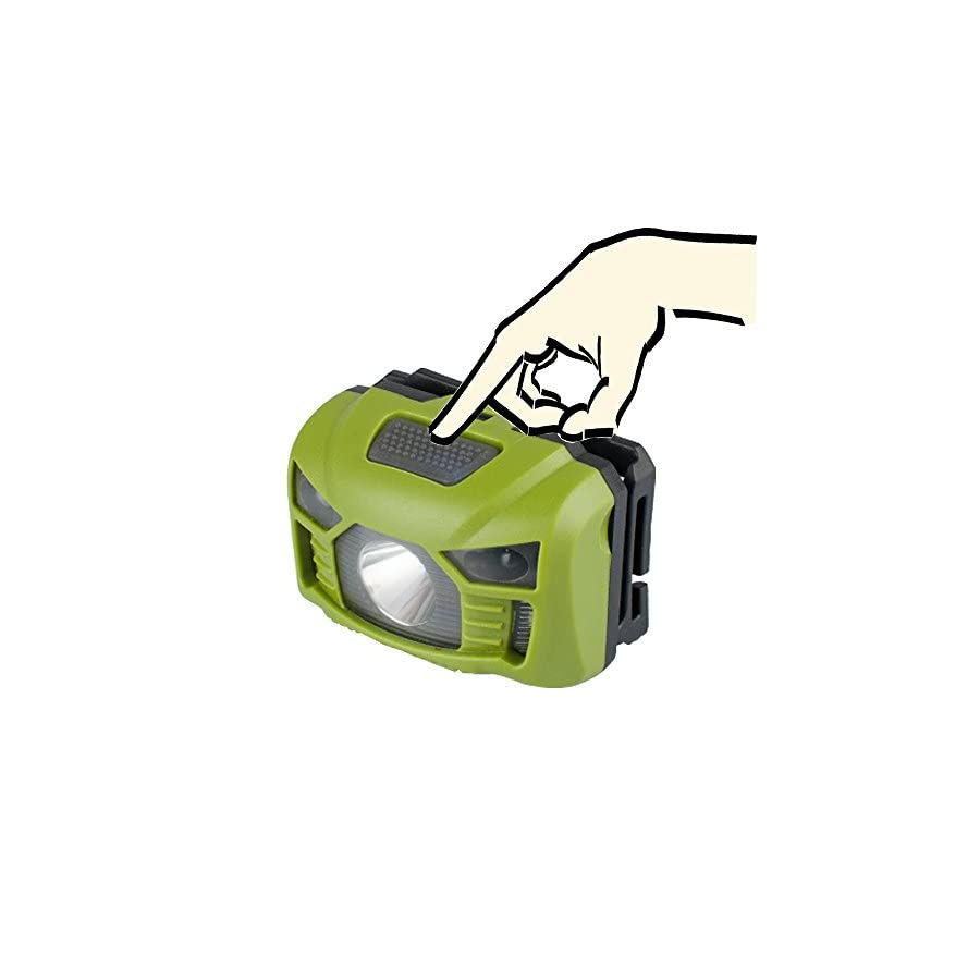 three trees Head Torch Light 250 Lumen,Sensor Brightest Cree LED with Red Light Rechargeable Outdoor Headlamp for Kids Waterproof for Running, Walking,Reading,Camping,Lithium Battery Included.