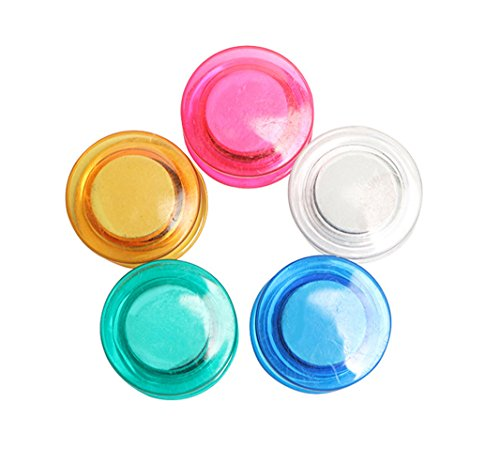 - 10Pcs Colorful Clear Refrigerator Magnets Round Fridge Magnets for Whiteboard, Refrigerator, Map and Calendar, 30MM