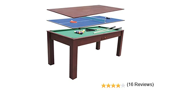 Devessport - Multijuego 3 en 1 - Billar, Ping-pong, Mesa de ...
