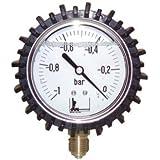 Expert by net - Vacuomètre rond pour le Fioul - -1 à 0 bars diamètre 63mm M1/4 boitier inox à glycérine