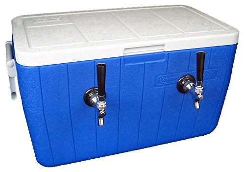 Cheap Bev Rite Double Faucet Beer Coil Cooler Jockey Box, Two 120 Feet – All SS304 Contact with Beverage