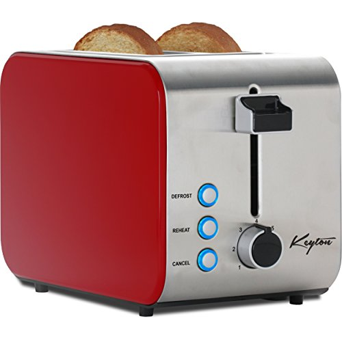 Keyton 2 Slice Toaster with Crumb Tray, Red