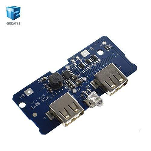 Amazon.com: Batcus 18650 Dual Micro USB 3.7V a 5V 2A Boost ...