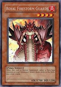 Yu-Gi-Oh! - Royal Firestorm Guards (GLAS-EN087) - Gladiators Assault - 1st Edition - Secret Rare
