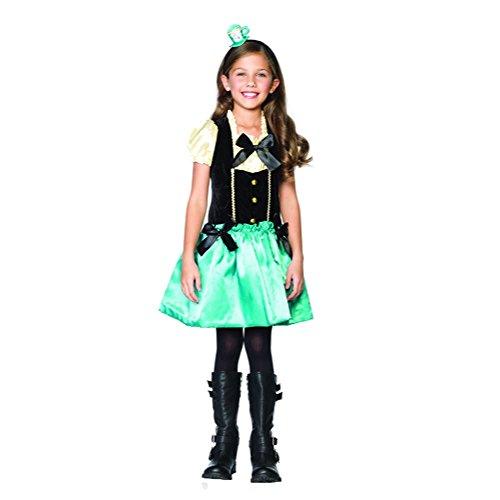 [Tea Party Princess Mad Hatter Kids Halloween Costume] (Kids Mad Hatters Tea Party Costumes)