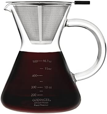 Artisan Roast Coffee Maker, Pour Over Drip Brew, 500ml 4 Cup