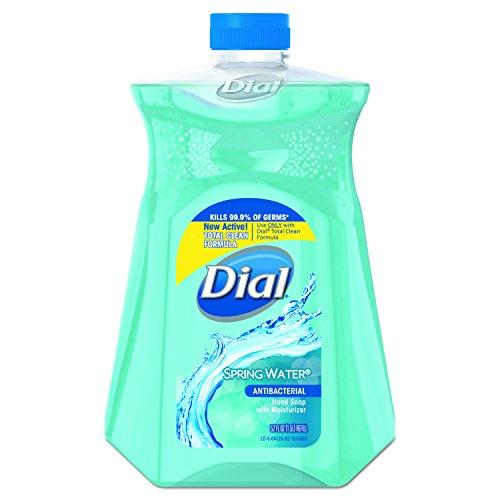 Dial Antibacterial Liquid Hand Soap Refill, Spring Water, 52