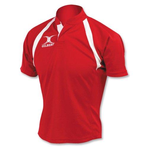 Gilbert Junior Match Rugby Jersey (Red)