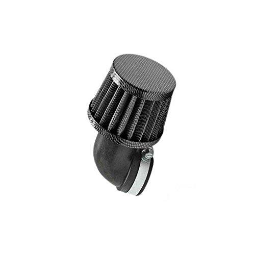 Motodak Filtre a air tunr d28-35 Conique KN PM coude 90/° Carbone