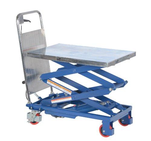 Vestil-CART-200-D-Double-Scissor-Hydraulic-Elevating-Cart-220-lb-Capacity-27-12-x-17-12-Platform