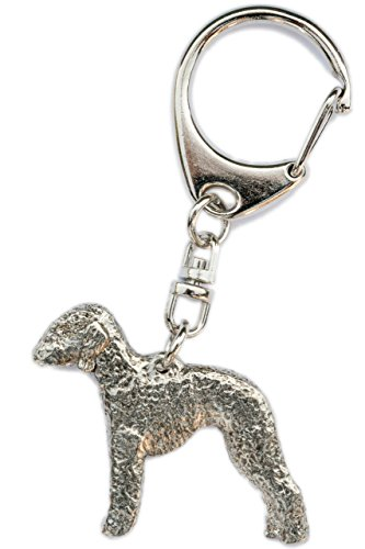 Bedlington Terrier Made in U.K Artistic Style Dog Key Ring Collection