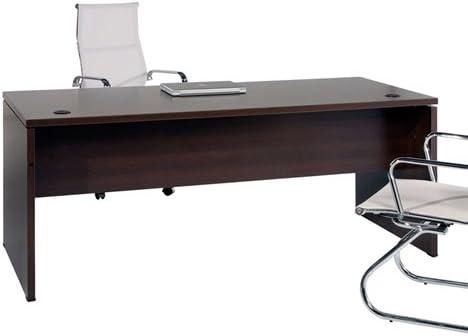 Mesa de Oficina. Euro 2000. Color Wengué. 180x80 cm: Amazon.es: Hogar