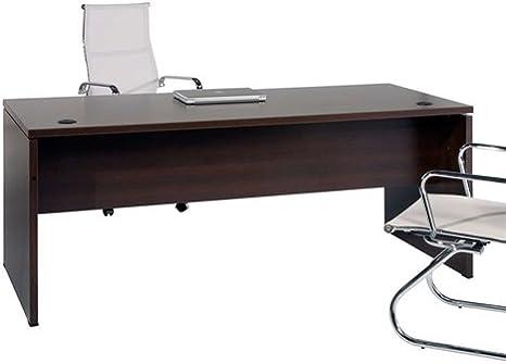 Mesa de Oficina. Euro 2000. Color Wengué. 120x80 cm: Amazon.es: Hogar