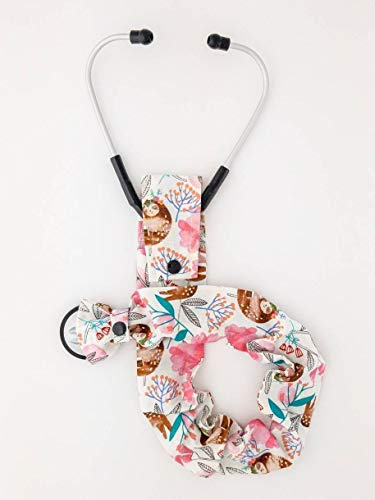 - Stethoscope Cover, Snap Bottom, Sleeping Sloths, Watercolor Flowers