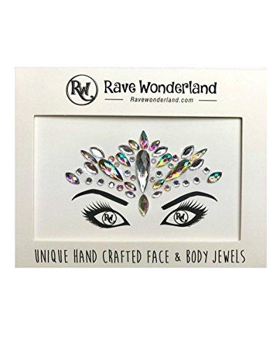 Rave Wonderland Festival Face Jewels Rhinestone Adhesive One Size