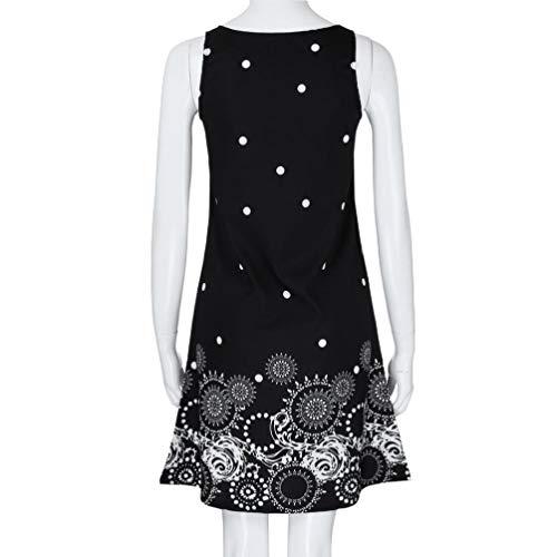 Solid Chiffon Black Falda Sleeveless Summer Vest NREALY Party Women's Dresses Evening Iw7qtn61