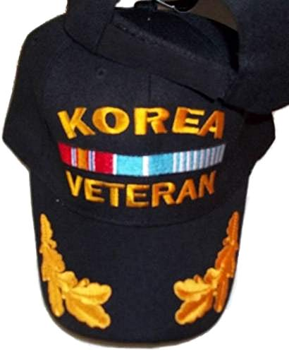 Korea War Veteran Baseball Style Embroidered Hat Black Ball Cap Korean Vet