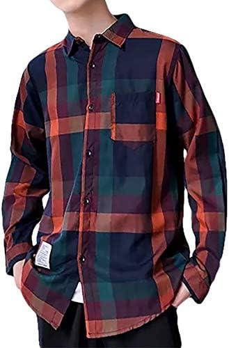 【在庫処分】[メリュエル] 2カラー 薄手 カジュアル チェック シャツ スリム 大人 羽織り シルエット メンズ
