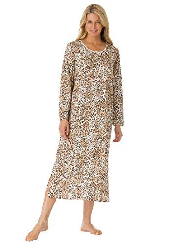 Dreams & Co. Women's Plus Size Tag-Free Cotton Long Sleepshirt . Animal