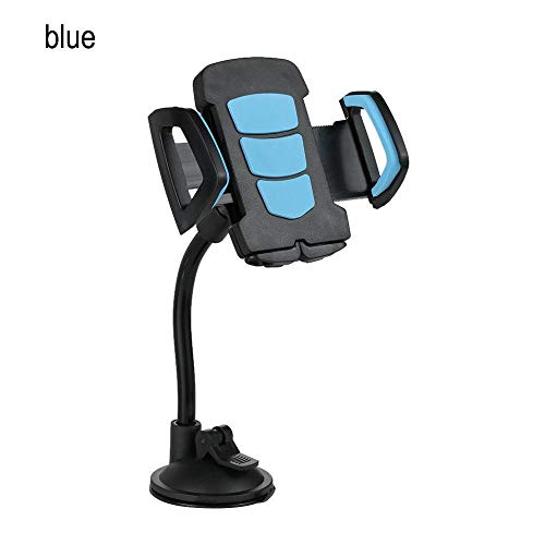 (1 Pcs Universal Suction Cup Sucker Car Windshield Mount Phone Holder Stand Support for iPhone 7 6 6s Plus Samsung Xiaomi GPS Blue)