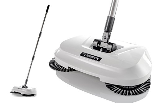 Spinning Cordless Push-Power Broom 3 in 1 | 360 Degree Rotating Cleaning Sweeper Tool | Lightweight, Non-Electric, Safe, Easy to Use | Scrub + Sweep + Dustbin All in One!